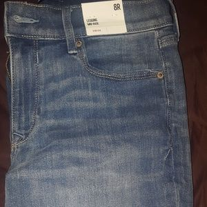 Express mid rise legging jean size 8R NWT